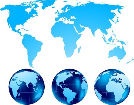 Set of globe Stock Photo - 8838553