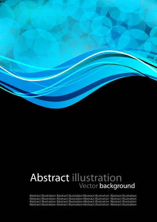 computer generated image: Abstract background with blue circles Stock Photo