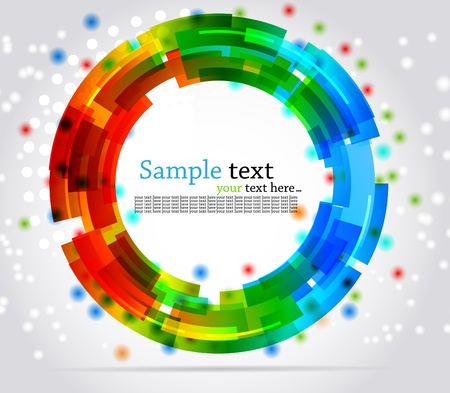 rainbow stripe: Abstract circle background. Colorful illustration Stock Photo