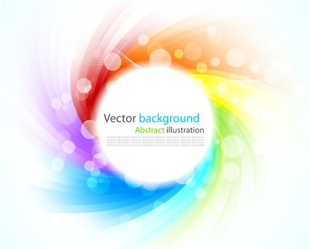 Abstract colorful background. Illustration with rays Stock Illustration - 8838603