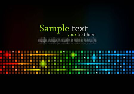 Abstract colorful background with square photo