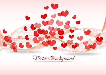 Background on Valentine day. Illustration with hearts illustration
