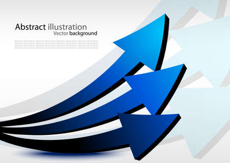 Business background with arrows. Abstract illustration Stock Illustration - 8838580