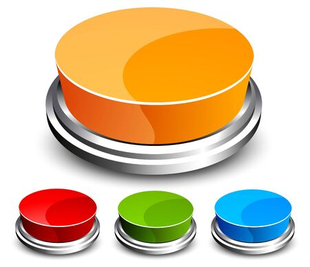 Set of abstract glossy button Vector
