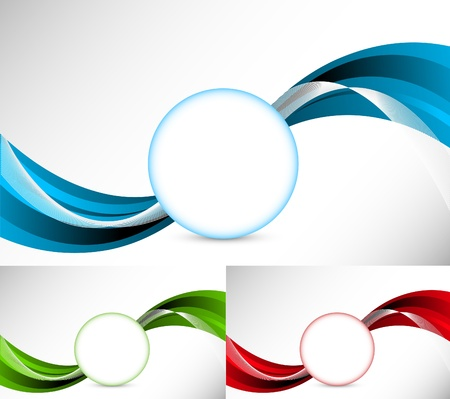 Abstract illustration. Set of background Stock Vector - 9254467