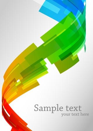 forme: Arrière-plan coloré abstrait