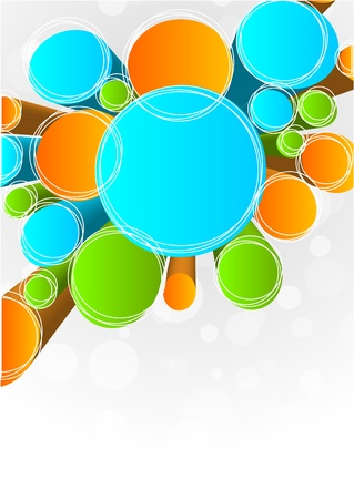 Abstract background with circles Stock Vector - 9254520