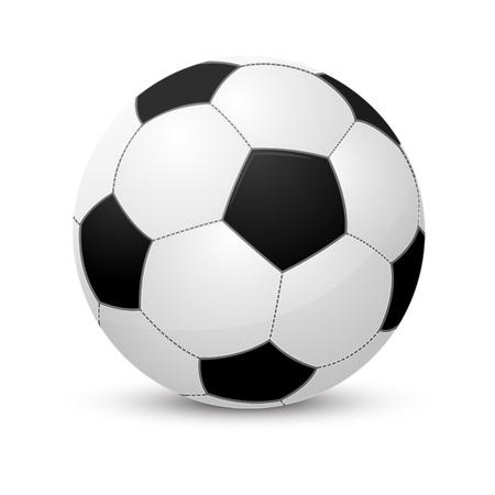 Voetbal bal geà ¯ soleerd op wit