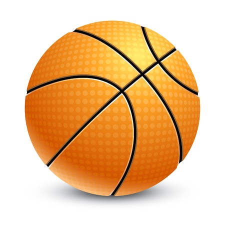 Basketball isolated on white Stock Vector - 9254522