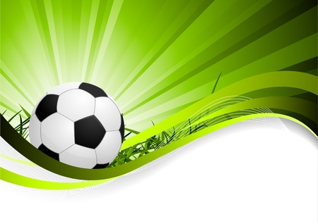 Abstract soccer background Stock Vector - 9254524