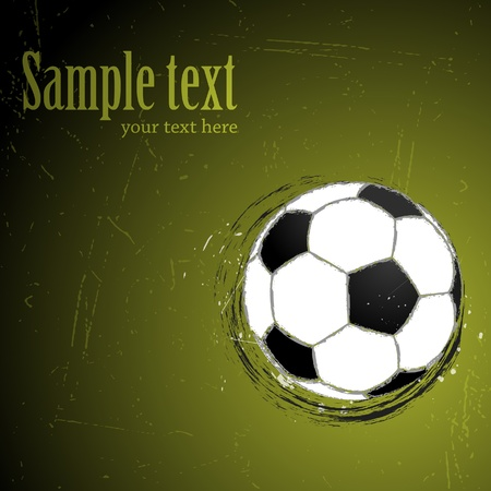 Background with soccer Stock Vector - 10502912