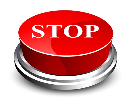 Stop button Stock Vector - 10502902