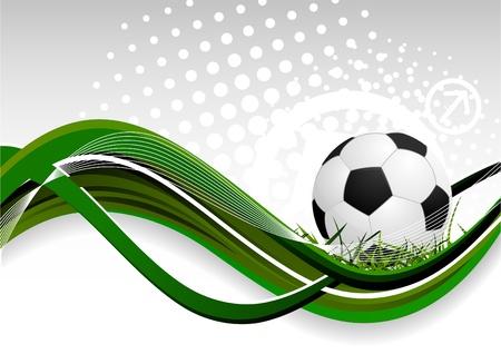 pelota de futbol: Fondo abstracto con bal�n de f�tbol