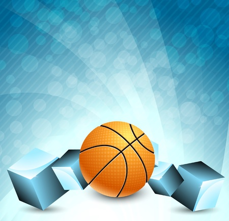 leisure games: Abstract background with basketball