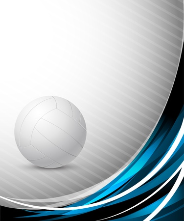 leisure sports: Abstract background with volleyball Illustration