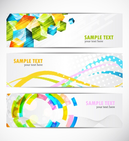 Set of banners Stock Vector - 10502915