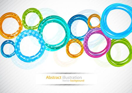 color spectrum: Abstract background with circles