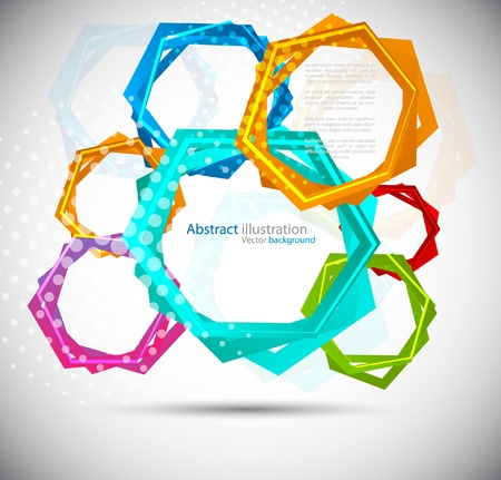 Abstract background with colorful hexagon Stock Photo - 10709408