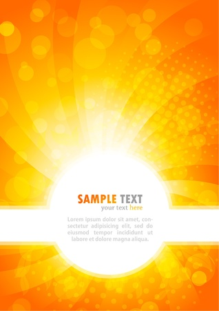 orange background: Abstract bright background