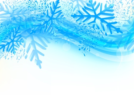 cold weather: Background with snowflakes