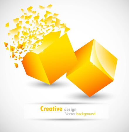 Cube design Stock Photo - 10709399