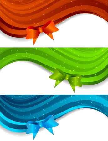 Set of banners with bow Stock Photo - 10709442
