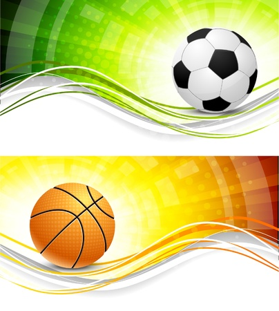 basketball background: Sport banners