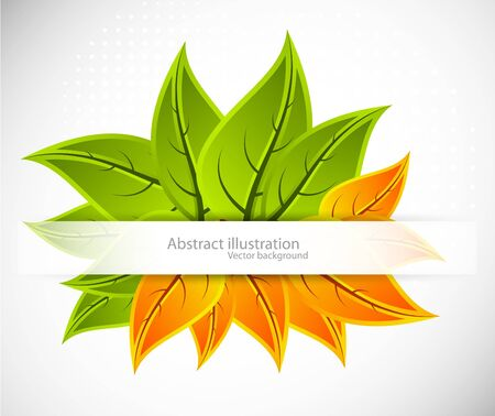 Background with leaves Stock Vector - 10709450
