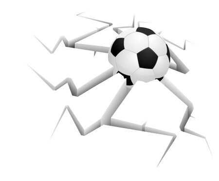 forceful: Ball on background with still