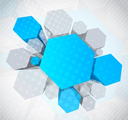 hexagon background: Background with 3d element