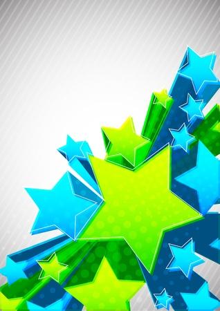 profundidad: Fondo con estrella Vectores