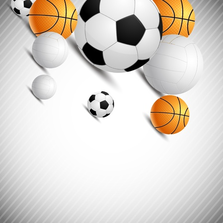 sports equipment: Background with ball