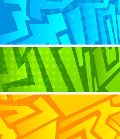Set of bright abstract banners photo