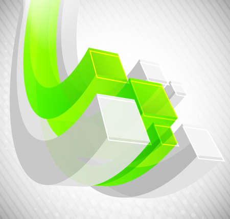 Abstract background with 3d element Stock Photo - 11539082