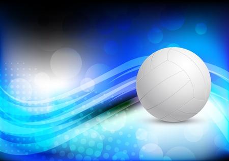 voleibol: De fondo brillante resumen con la pelota
