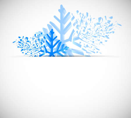 Bright christmas background with snowflakes photo