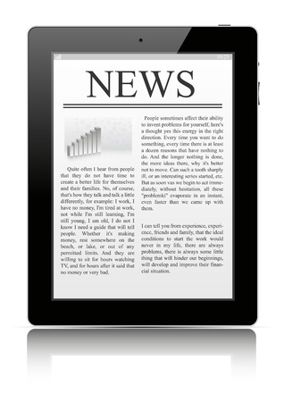 News on tablet pc photo