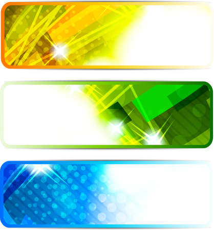 Set of abstract bright banners photo