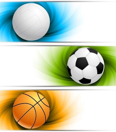 bannière football: Jeu de bannières Illustration