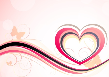 Background with heart Vector