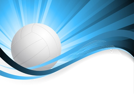 Abstract blue background with ball photo