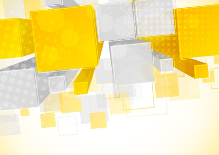 Orange background with 3d element Фото со стока