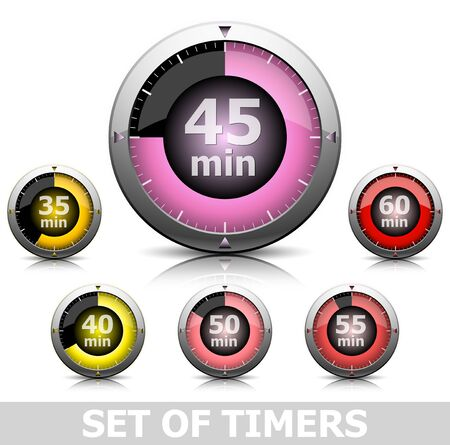 Set of bright timers in different color Stock Photo - 12728443
