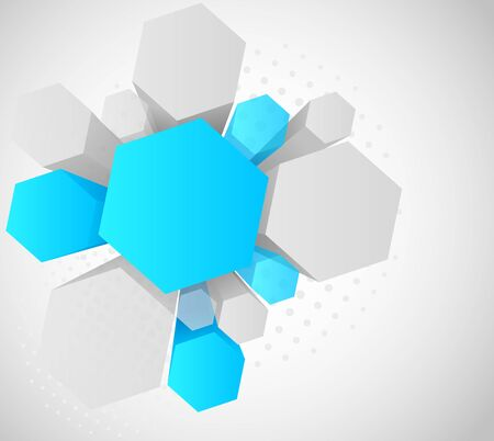 Background with 3d hexagon with copy space photo