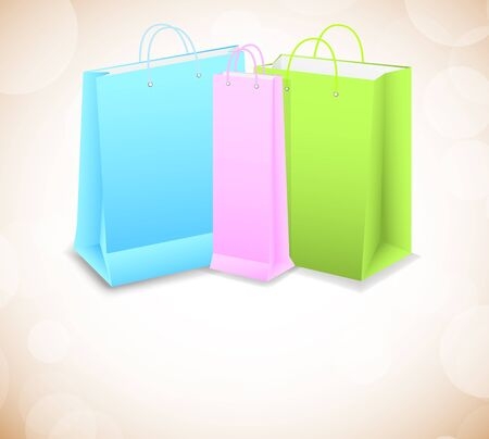 Bright background with shopping bags photo