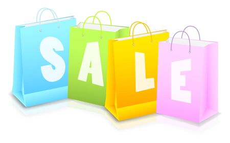 Bright background with shopping bag photo