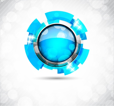 web design background: Abstract blue background with drops, button and lights