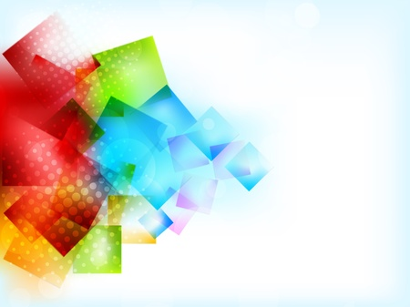 Abstract bright background with squares and lights photo