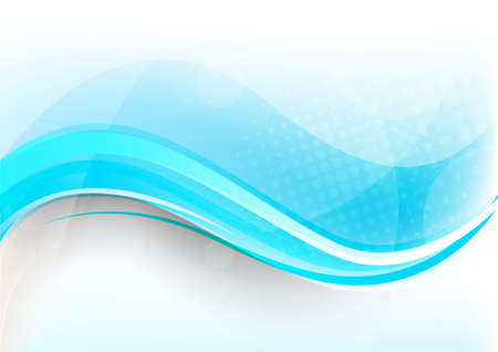Bright blue background with waves and light Stock Photo - 12726448