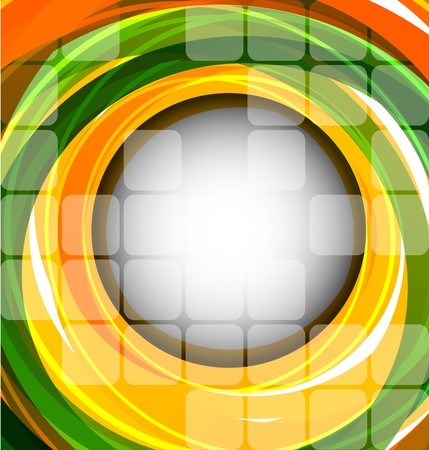 pellucid: Abstract bright background with color circle and squares